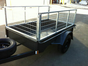 Brand-New-Heavy-Duty-Box-Trailer-7X4FT-HEAVY-DUTY-60CM-CAGE-ALSO-7X5-8X5-8x4