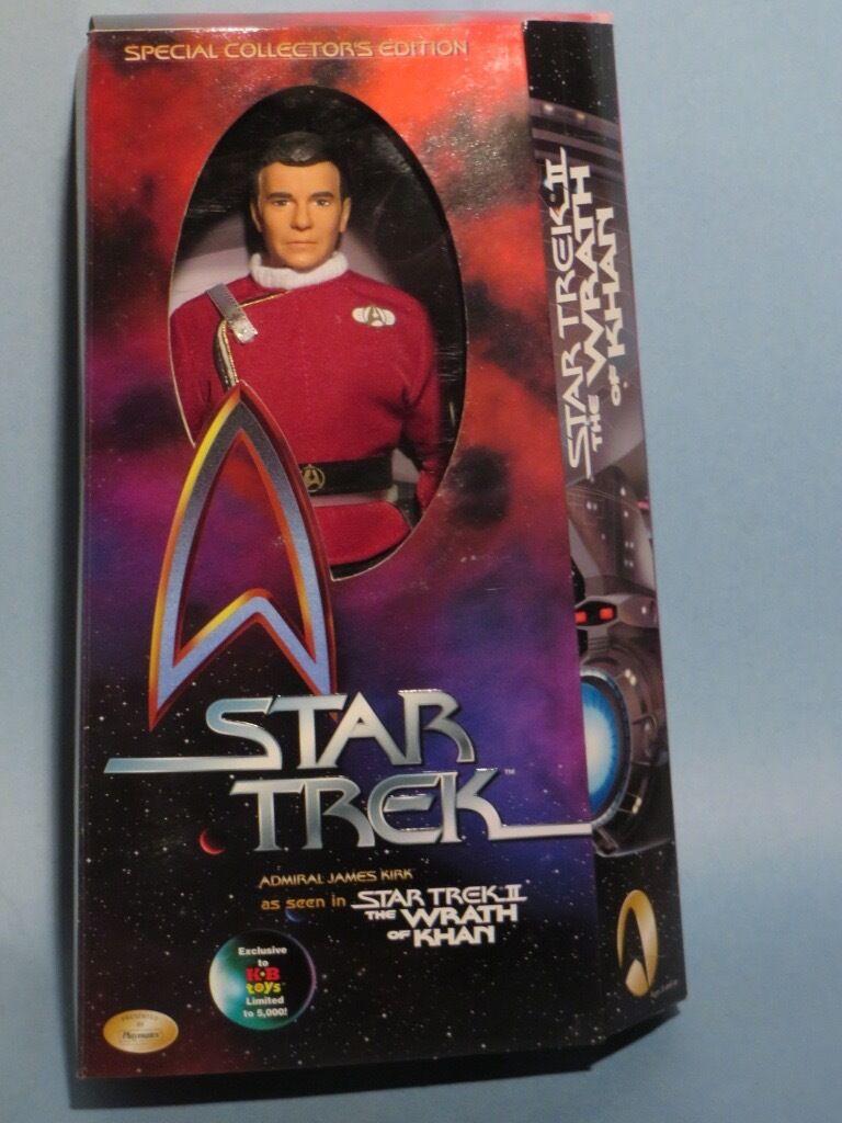 Star trek, admiral kirk 12  deluxe - action - figur.nm.star - trek - 50. jahrestag.