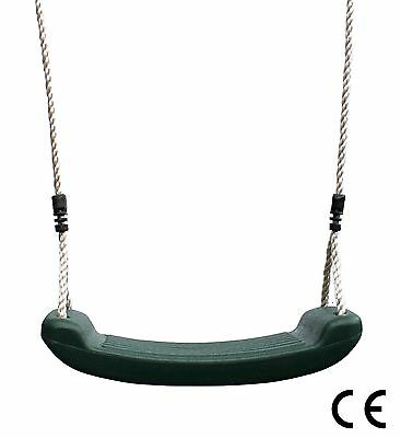 Kids Plastic Swing Garden Seat Replacement Green with Height Adjustable Ropes