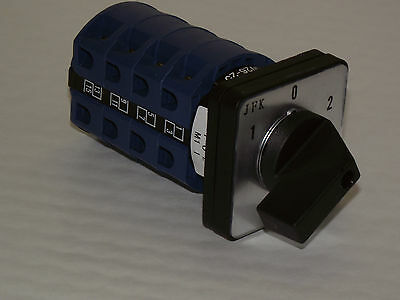 ROTARY CAM SWITCH 3 POSITION CHANGE OVER  25 32 OR 63AMP 4POLE  PANEL MOUNT