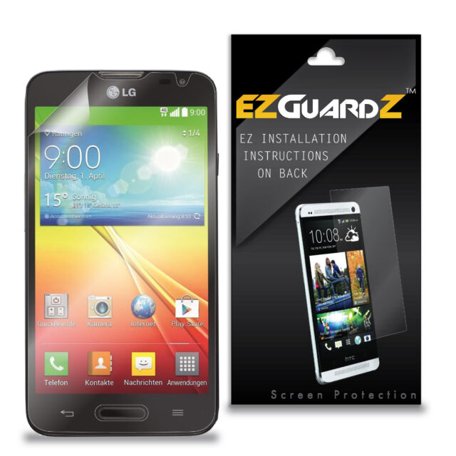 5X EZguardz Clear HD Screen Protector Shield 5X For LG Optimus L70 (Metro PCS)
