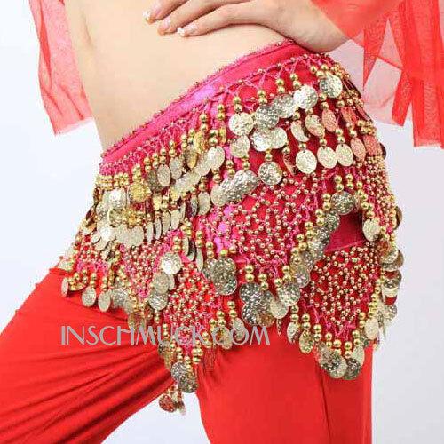 C35 Belly Dance Costume Huefttuch Garter belt Coin belt Tribal Fusion