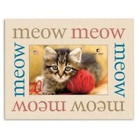 Dog Speak Cat Lover Picture Frame - meow Meow Meow - Made In The Usa