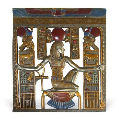 Fresque Bas-Relief Pharaon Symboles égyptiens