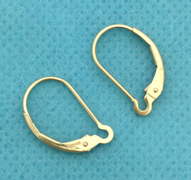 Findings Yellow Gold 4 pcs 14k Gold Filled Ear Wire Leverback Earwires Lever Back Earring Connector