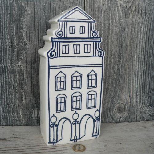 Sparschwein Haus Keramik weiß blau Spardose Münster Prinzipalmarkt Stadthaus 24c