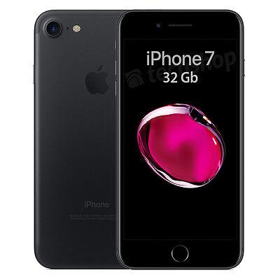 """Apple • iPhone 7 • 32Gb Black • GARANZIA 2 ANNI • Nero Opaco 4.7""""12Mpix 4G NUOVO"""