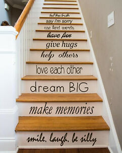 Image Is Loading Family Decal Quote Love Decals Stair Riser Vinyl