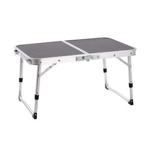 Genial Details About Aluminum Height Adjustable Small Folding Table Camping Outdoor