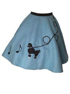 "37/"" /_ Length 25/"" Black FELT 50s Poodle Skirt /_ Adult Size MEDIUM /_ Waist 30/"""