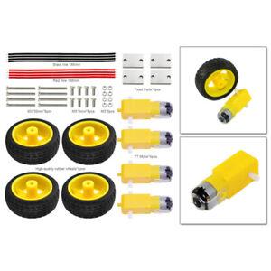 KEYES-DC-3-6V-Gear-TT-Motors-Tires-Wheel-Set-For-Arduino-DIY-Smart-Cars-Robot
