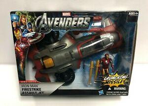Details about 2011 Hasbro Marvel Avengers IRON MAN Firestrike Assault Jet  launching missiles