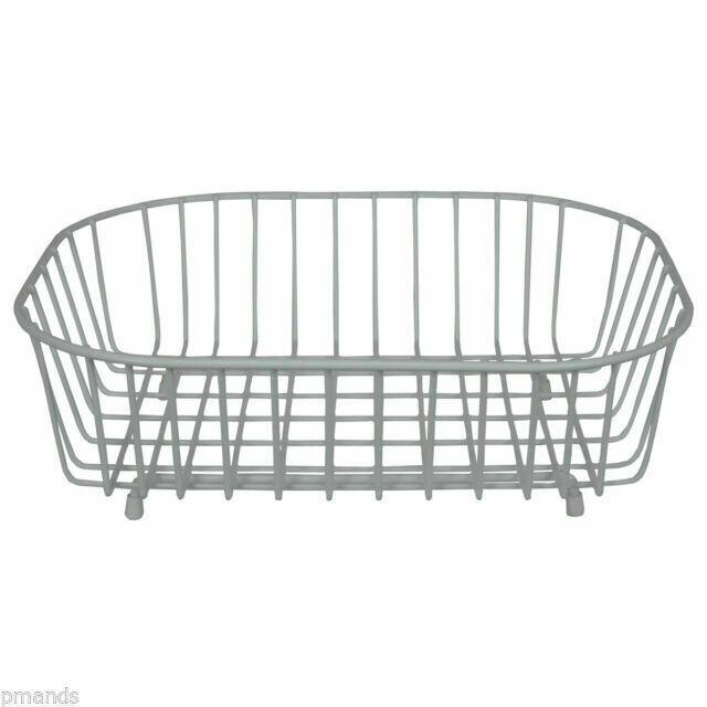 Metal Delfinware White Oval Sink Basket