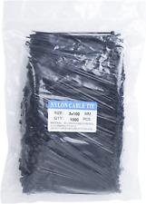 Ecrab Zip Ties 4 Inch Bulk 1000 Pack Small Clear Cable Ties 18lb Self Locking