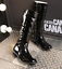 Womens-Patent-Leather-Knee-High-Boots-Med-Heel-Shoes-Knight-Size-35-39-N035-New thumbnail 1