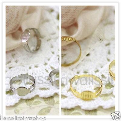 Base Anello regolabile piastra piatta colore quantita/' scelta creare bijoux