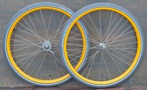 Iver Johnson Bicycle WHEELS Tires New Departure Morrow Hub Vintage Prewar Bike