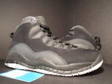 size 40 3480c 30c11 2012 Nike Air Jordan X 10 Retro BLACK WHITE STEEL STEALTH GREY 310805-003 Sz