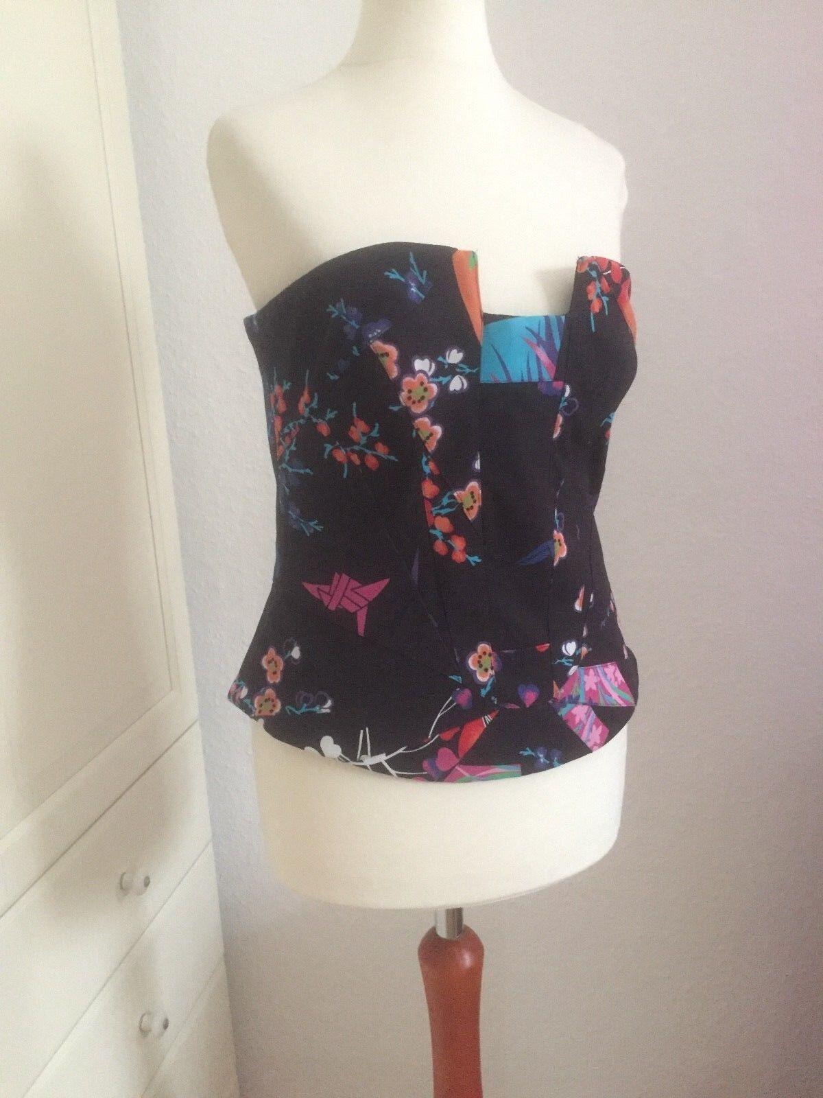 Original Versace for H&M Bustier Seide silk EUR Größe 42 Größe US12 Größe UK16 new
