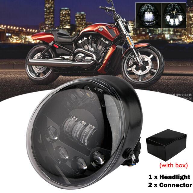 Black Dot Led Headlight Head Lamp 60w