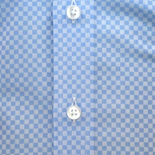 blu in collo quadri a a con Collo a a quadretti quadri alto cotone collo UwA0xq1