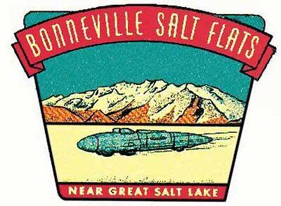 Vinyl STICKER rat rod hot rod BONNEVILLE SALT FLATS UTAH Vintage Style DECAL