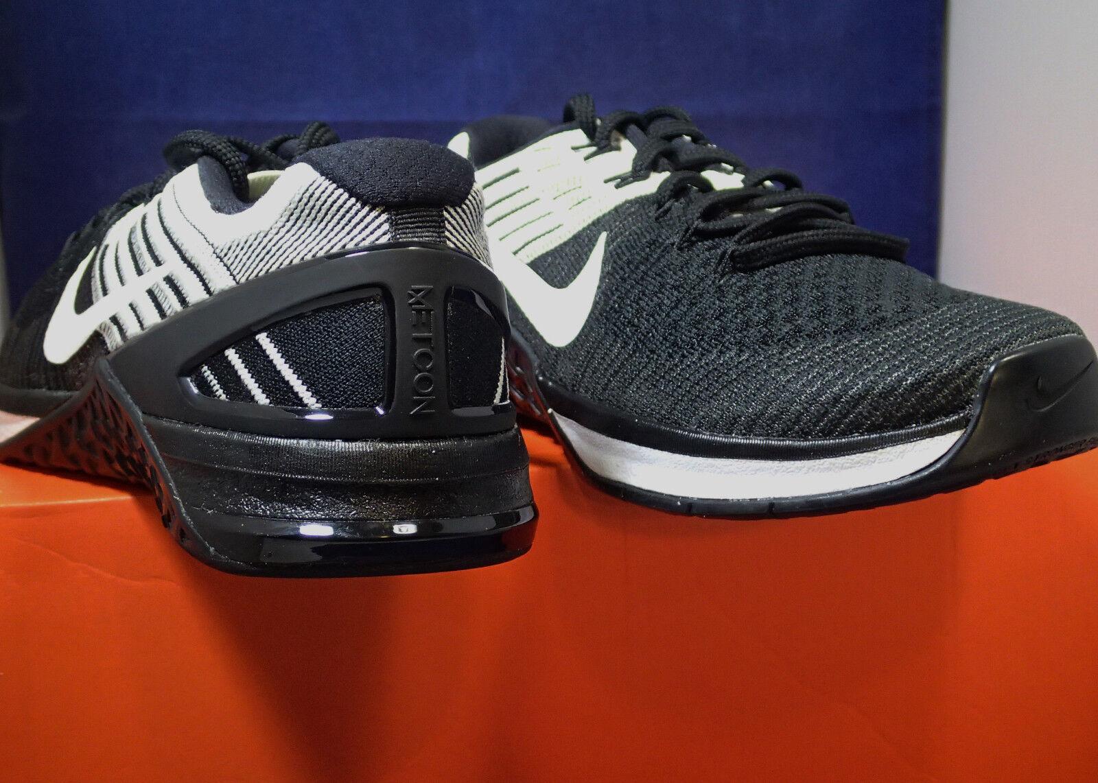 Mujeres Nike Metcon 3 DSX Flyknit Negro Negro Negro Blanco Crossfit (849809001) 2d8e7d