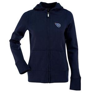 1ed59c7a2c09 Image is loading MEDIUM-Womens-Ladies-ANTIGUA-NFL-Tennessee-Titans-Zip-