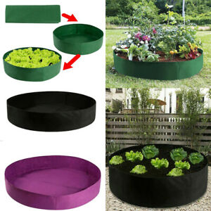 Fabric Raised Planting Bed Garden Planter Elevated Vegetable Box Flower Grow Bag