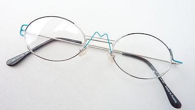 Eyecatcher Brille Gestell Ausgefallen Silber Blau Schwarz Fassung Oval Size S Duftendes Aroma