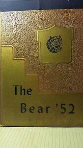 1952 Bear Annual,Bradley,Arkansas,Grades 1-12,Advertisements