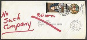 Benin Scott #C390 & C447 on 1994 cover to USA