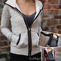 Hollister By Abercrombie & Fitch Womens Fur Lined Hoodie Sweatshirt Xs S M L