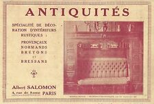 W5643 Antiquités Albert SALOMON - Pubblicità 1922 - Advertising