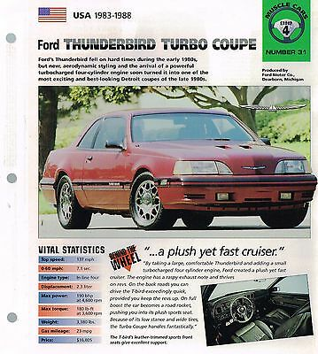1986 1987 1988 ford thunderbird turbo coupe imp brochure t bird ebay 1986 1987 1988 ford thunderbird turbo coupe imp brochure t bird ebay