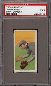 1909-11 T206 Jimmy Hart Piedmont 350 Southern League Montgomery PSA 3 VG