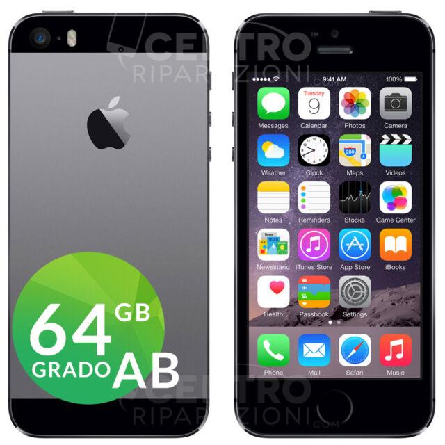 APPLE IPHONE 5S 64GB ORIGINALE GRIGIO SIDERALE SPACE GRAY ACCESSORI E GARANZIA
