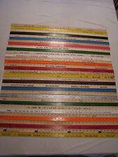 34 Yardstick Wood Wooden Ruler Lot Advertising Sign Color Art Craft Hobby