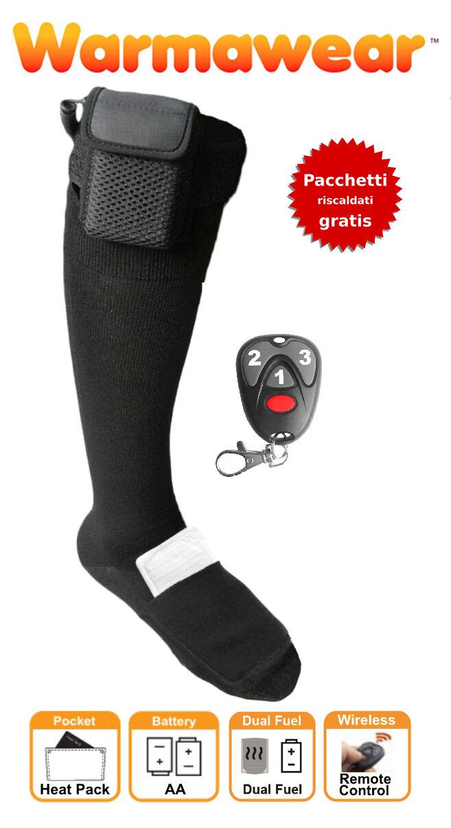 Calze riscaldate con tasca DUAL FUEL e telecomando Warmawear™