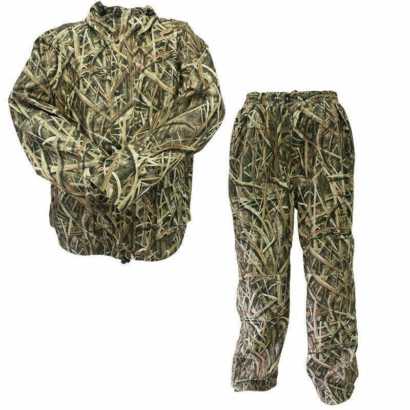 Mossy Oak caza Chaqueta y Pantalón Impermeable   Shadow Grass Blades Camuflaje