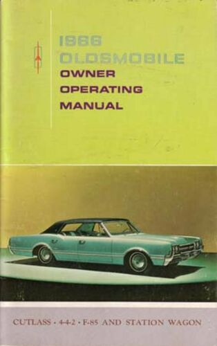 OEM Owner/'s Manual Oldsmobile 442//Cutlass//F-85//Wagons 1966