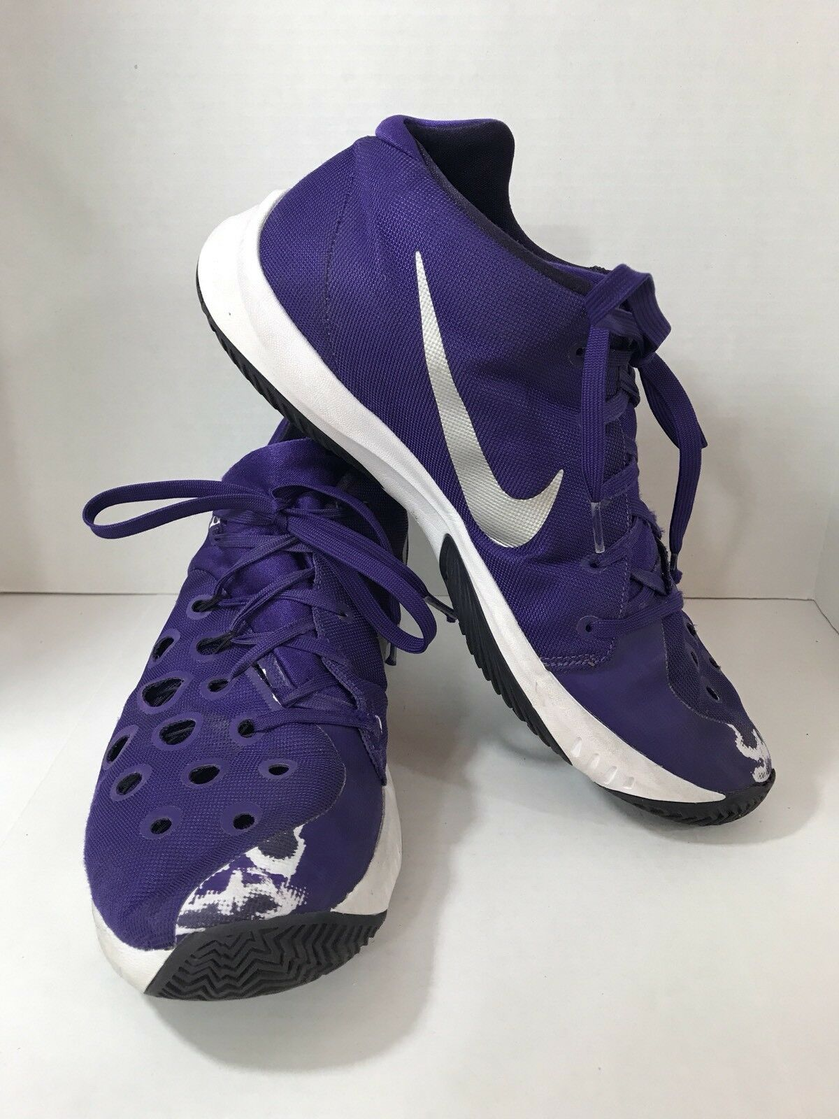 NIKE ZOOM Men's13 -  Basketball Athletic Shoes Hyperquickness 749883-505 Purple Great discount