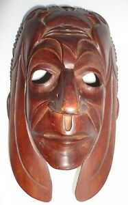 CeremonialDecorative Wooden Mayan Burro Mask from Quiche Guatemala