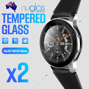 2x-Samsung-Galaxy-Watch-46mm-Genuine-Nuglas-Tempered-Galss-screen-protector-Film