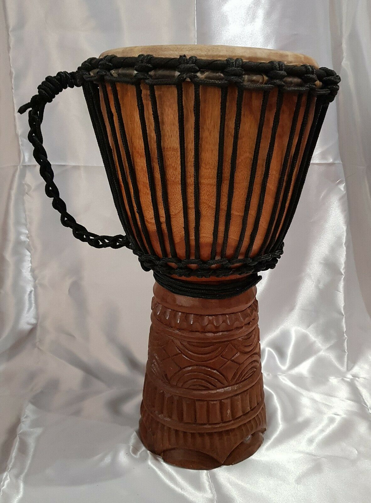 Djembe Trommel Handtrommel Bongo Drum Ziegenleder H 50 cm  D 24 cm Afrika Neu