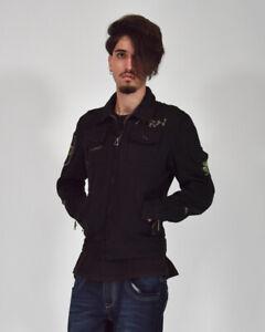 DIESEL-Giubbotto-Sportivo-Nero-Jacket-Taglia-M-Uomo-Man-Casual