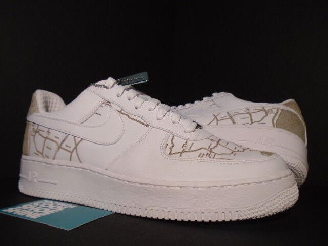 2018 1 Nike Air Force 1 2018 Premium en los Ángeles la mapa laser Sr. Cartoon blanco nuevo 11 nuevos zapatos para hombres y mujeres, el limitado tiempo de descuento 07a0b4