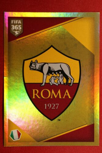 364 BADGE AS ROMA TOP MINT! PANINI FIFA 365-2018 N