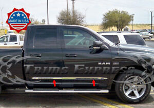 fits-2009-2018-Dodge-Ram-Quad-Cab-4Pc-Flat-Body-Side-Molding-Trim-1-5-034