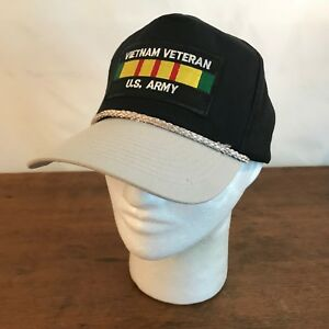 feb780c14d4773 Image is loading Vietnam-Veteran-US-Army-Cotton-Snapback-Trucker-Cap-